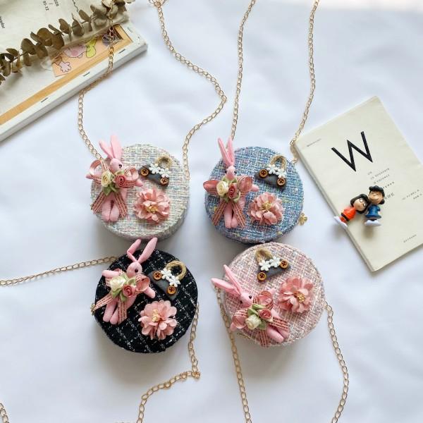 Giá bán Túi trống đeo chéo cho bé gái mini ZAKUDO dễ thương, ngộ nghĩnh, thời trang hình HOA, THỎ da PU phong cách Hàn Quốc TX20