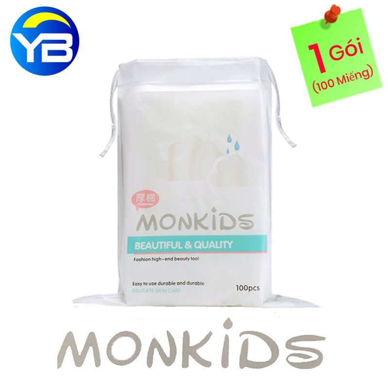 Bông Tẩy Trang Monkids 100% cotton nhập khẩu