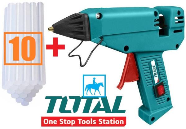 Dụng cụ súng bơm keo điện 220w Total TT301111 tặng 10 cây keo - TT301111_10, cam kết hàng đúng mô tả, chất lượng, inbox shop để được tư vấn thêm