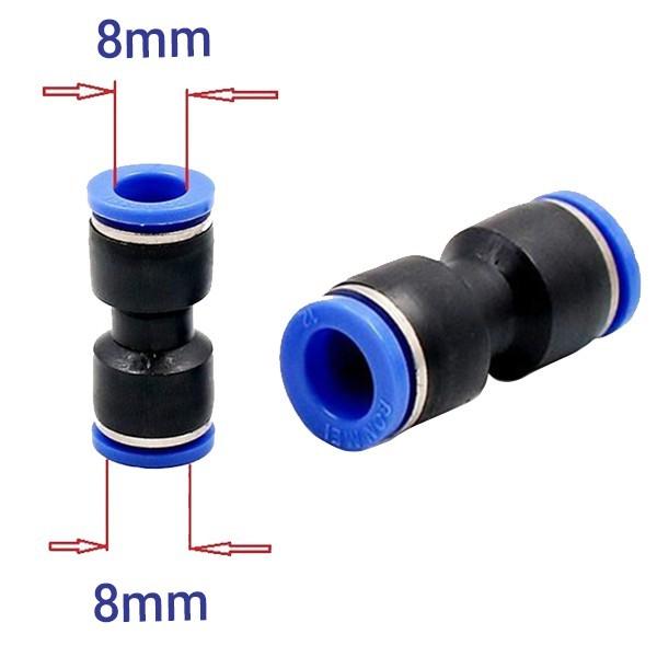[Sỉ lẻ một giá] Cut nối thẳng 8-8mm dùng nối ống plastic trong hệ thống phun sương