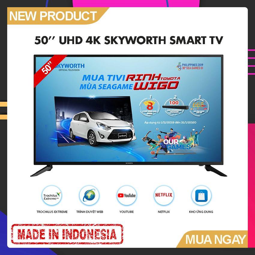Bảng giá Smart TV Skyworth 50 inch UHD 4K - Model 50UB5100 Tràn viền, Trochilus Extreme, Youtube, Kết nối với điện thoại - Bảo Hành 2 Năm