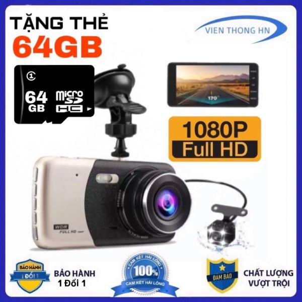 [ TẶNG THẺ NHỚ 64GB ] Camera Hành Trình Xe OTO WDR X900 FULL HD 1080P - Camera 4.0 - Camera giám sát hành trình xe ô tô - Kèm 2 cam trước và sau full HD