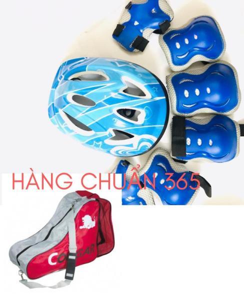 Giá bán Combo Mũ - Bộ Bảo Vệ (Chân, Tay, Khuỷu) Túi đựng giày trượt patin Cougar