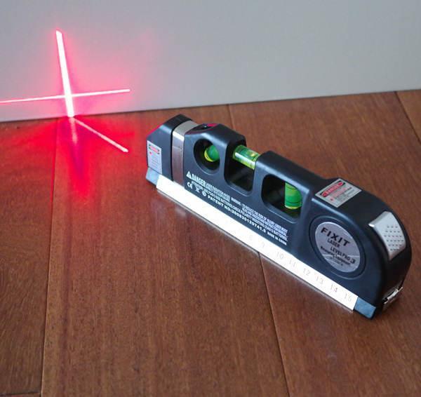 [HCM]Thước đo/máy đo khoảng cách bằng laser cầm tay giá rẻ PRO 3 (Đen) - Đa chức năng: ni vô nằm đứng xiên 45 ° thước rút 2.5m thước ngắn 15cm laser đo cân bằng ngang