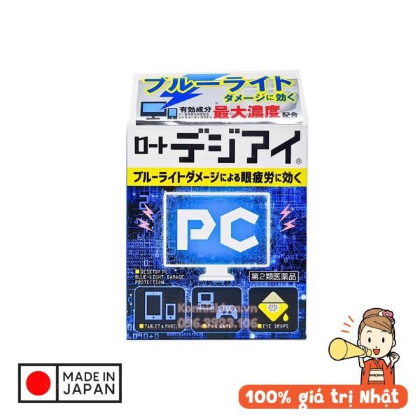 Nước nhỏ mắt PC giảm bức xạ từ máy tính, ánh sáng xanh từ màn hình Rohto 12ml | hàng nội địa Nhật giá rẻ
