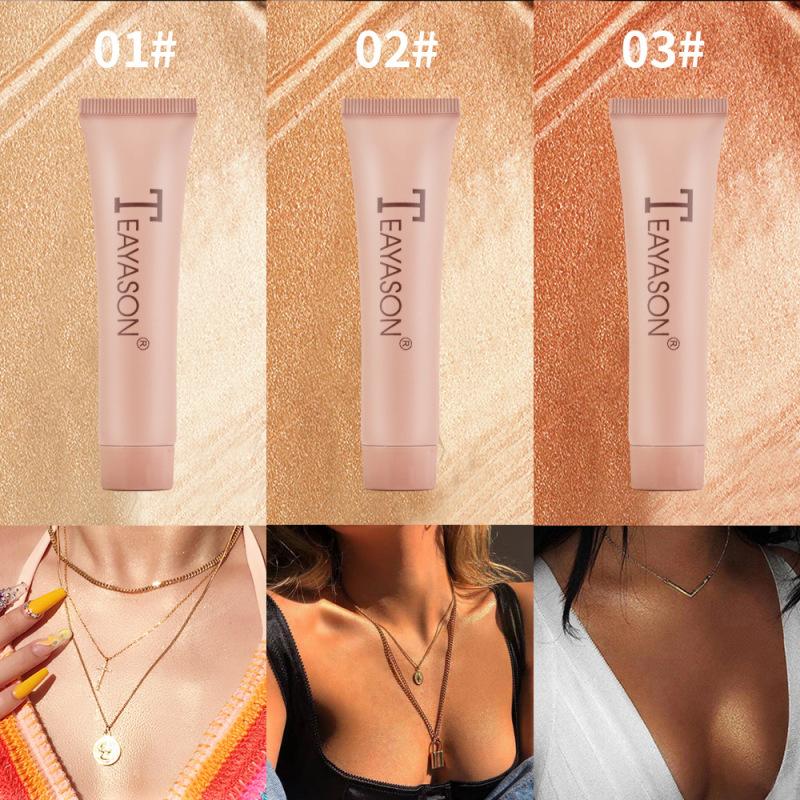 Kem Bắt Sáng Make Up Body Phong Cách Âu Mỹ Teayason Liquid Highlighter Oil Free nhập khẩu