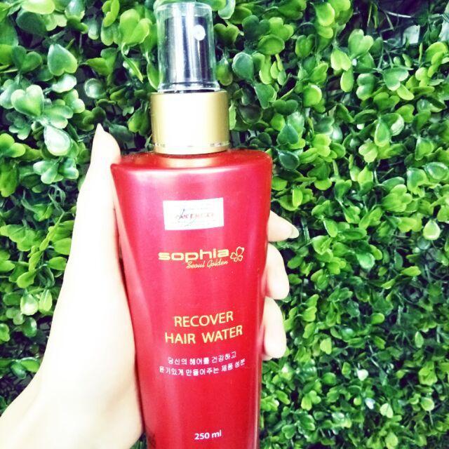 Nước xịt siêu dưỡng tóc Sophia Gold Recovery Hair Water Hàn Quốc 250ml tốt nhất