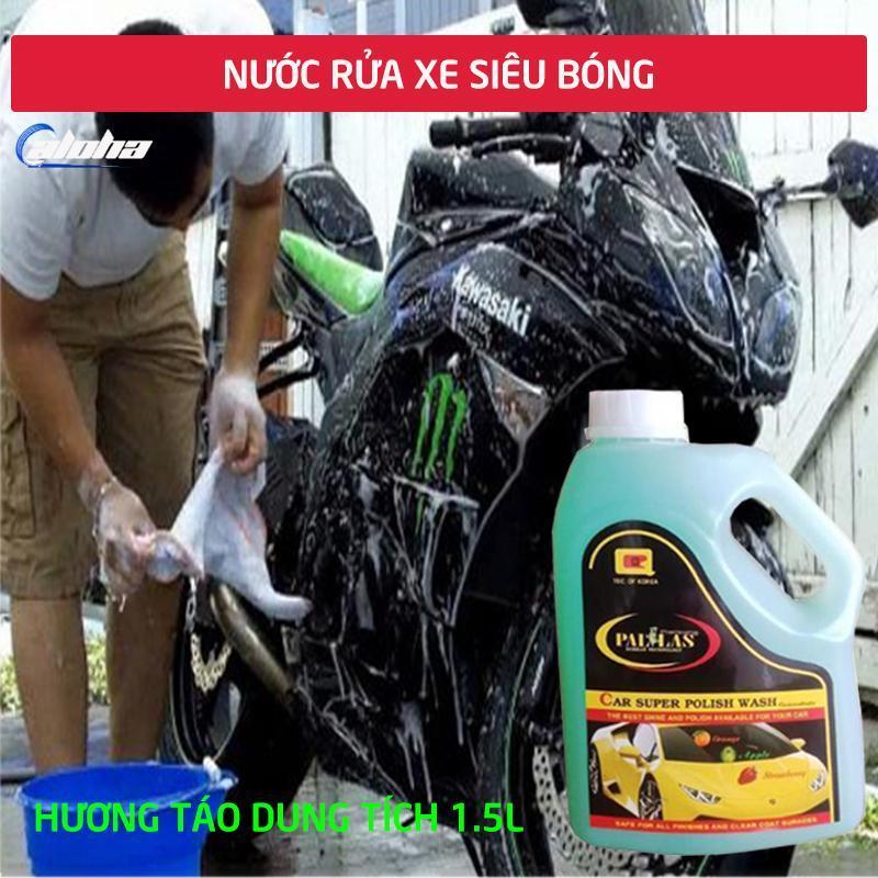 PALLAS super polish wash concentrate 1.5L.Dung dịch rửa xe siêu bóng ,nước rửa xe đậm đặc bảo vệ,bảo dưỡng mặt sơn xe hơi,ô tô,xe tải, xe khách P-1502(Giao ngẫu nhiên)