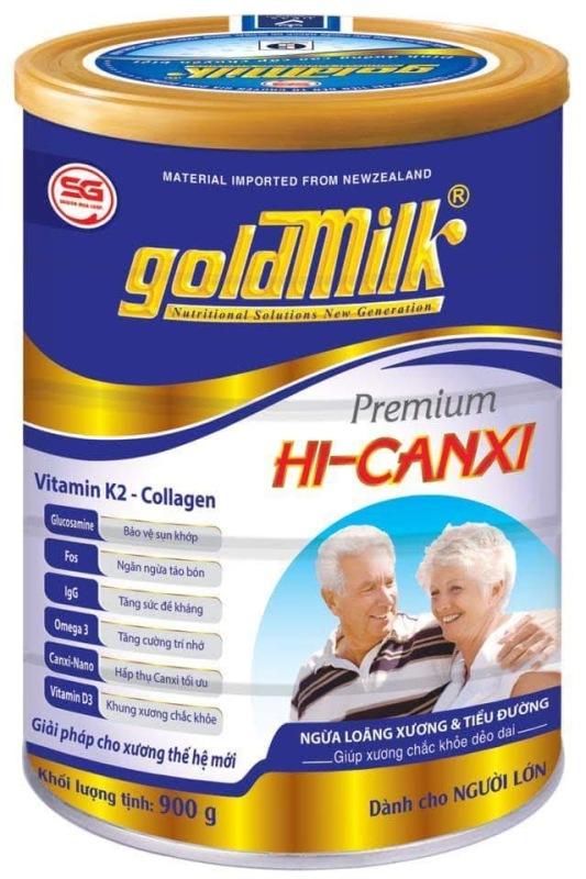 SỮA CHO NGƯỜI GIÀ NGĂN NGỪA LOÃNG XƯƠNG và TIỂU ĐƯỜNG - Sữa bột Goldmilk Hi-Canxi 900g - SỮA DÀNH CHO NGƯỜI GIÀ- tina vu store cao cấp