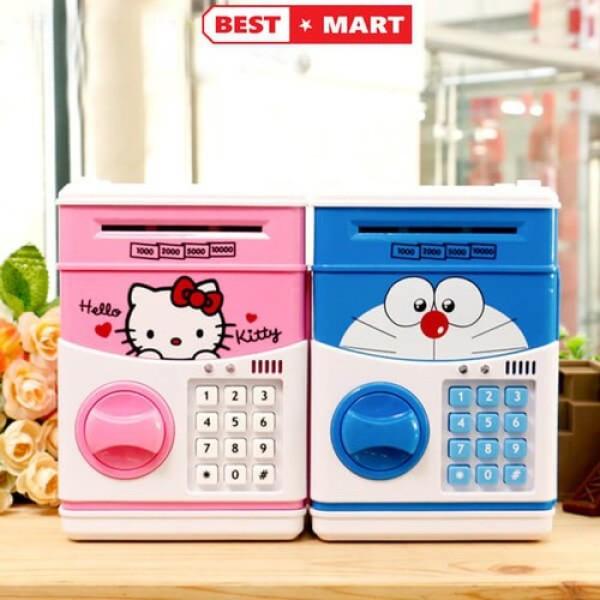 Két sắt mini thông minh tiết kiệm tiền cho bé, đồ chơi thông minh cho bé, két sắt thông minh, tiện dụng, món quà ý nghĩa cho bé Huy Linh