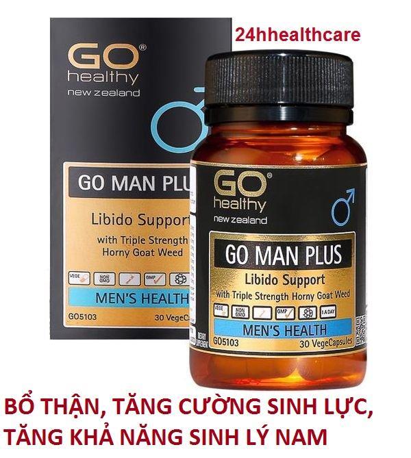 HÀNG CHUẨN] Viên uống tăng cường sinh lực, tăng khả năng sinh lý, cải thiện và làm chậm quá trình mãn dục nam Go Man Plus cao cấp
