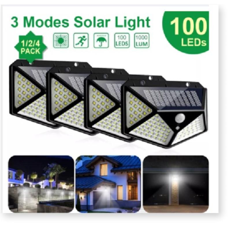 Đèn led năng lượng mặt trời 100 led cảm ứng chuyển động 4 mặt sử dụng dễ dàng BẢO HÀNH UY TÍN 1 ĐỔI 1 THIẾT KẾ SANG TRỌNG
