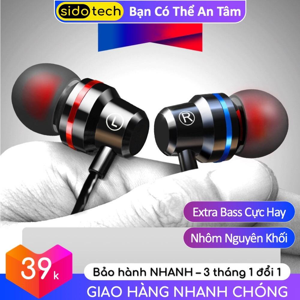 Tai nghe nhét tai có dây Q5 (có cả phiên bản TYPE C) chất âm Extra Bass dòng tai nghe Gaming, micro HD chống ồn tương thích với điện thoại smartphone_Sidotech