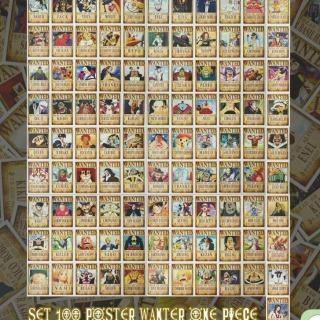 BỘ 100 POSTER ONEPIECE 14x10CM thumbnail