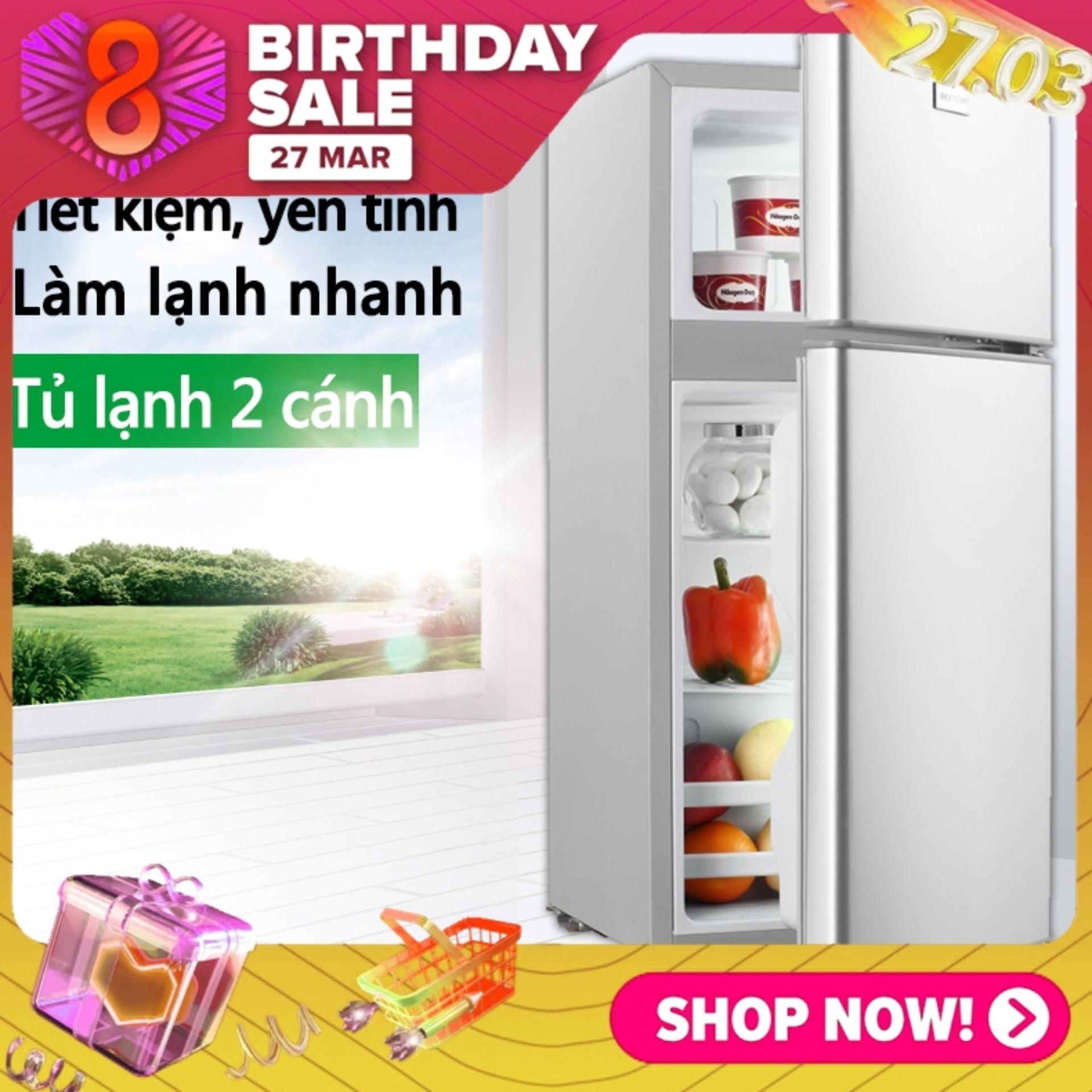 Tủ lạnh 2 ngăn 118 lít thương hiệu ZHIGAO làm lạnh nhanh ngăn đá và ngăn lạnh giữ đồ luôn tươi mới