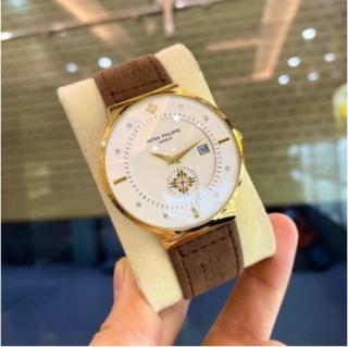 Đồng hồ nam Patek Philippe mặt siêu mỏng, dây da mềm, mặt kính chống xước thumbnail