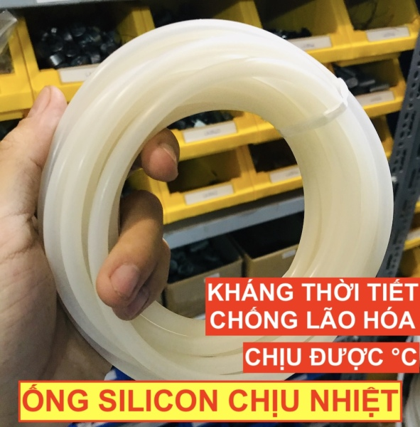 Bảng giá Ống silicon dẻo chịu nhiệt 230°C màu trắng đục chống ăn mòn lão hóa độ bền cao - LK0070