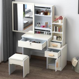 Bàn trang điểm bắc âu ngăn kéo lệch thời trang đơn giản hiện đại tủ lưu trữ đa năng Bàn trang điểm đơn giản bằng gỗ bit cheaper thumbnail