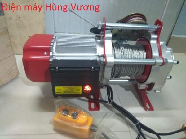Tời điện HiKari HK-2000, công suất 2,2 KW, Madein Thái lan (nâng 1000-2000kg) màu đỏ, đặt trên cao hoặc mặt đất.