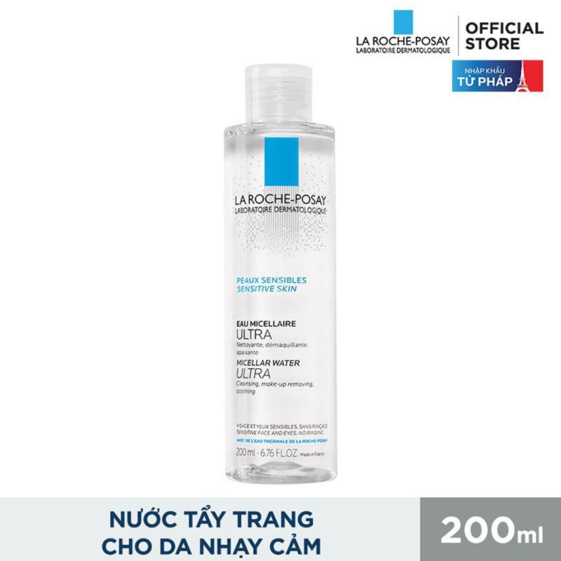 Nước làm sạch sâu và tẩy trang dành cho da nhạy cảm La Roche-Posay Micellar Water Ultra Sensitive Skin 200ml nhập khẩu