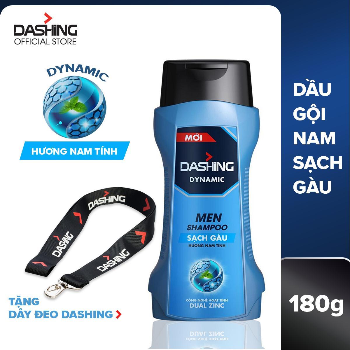 Dầu gội sạch gàu dành cho nam giới Dashing Dynamic Men Shampoo 180g - Tặng dây đeo