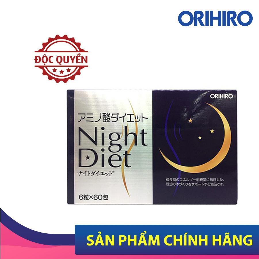 Viên uống Night Diet Orihiro Nhật Bản giúp giảm cân ban đêm, hỗ trợ làm đẹp da, ngủ ngon, 60 gói x 6 viên/hộp cao cấp