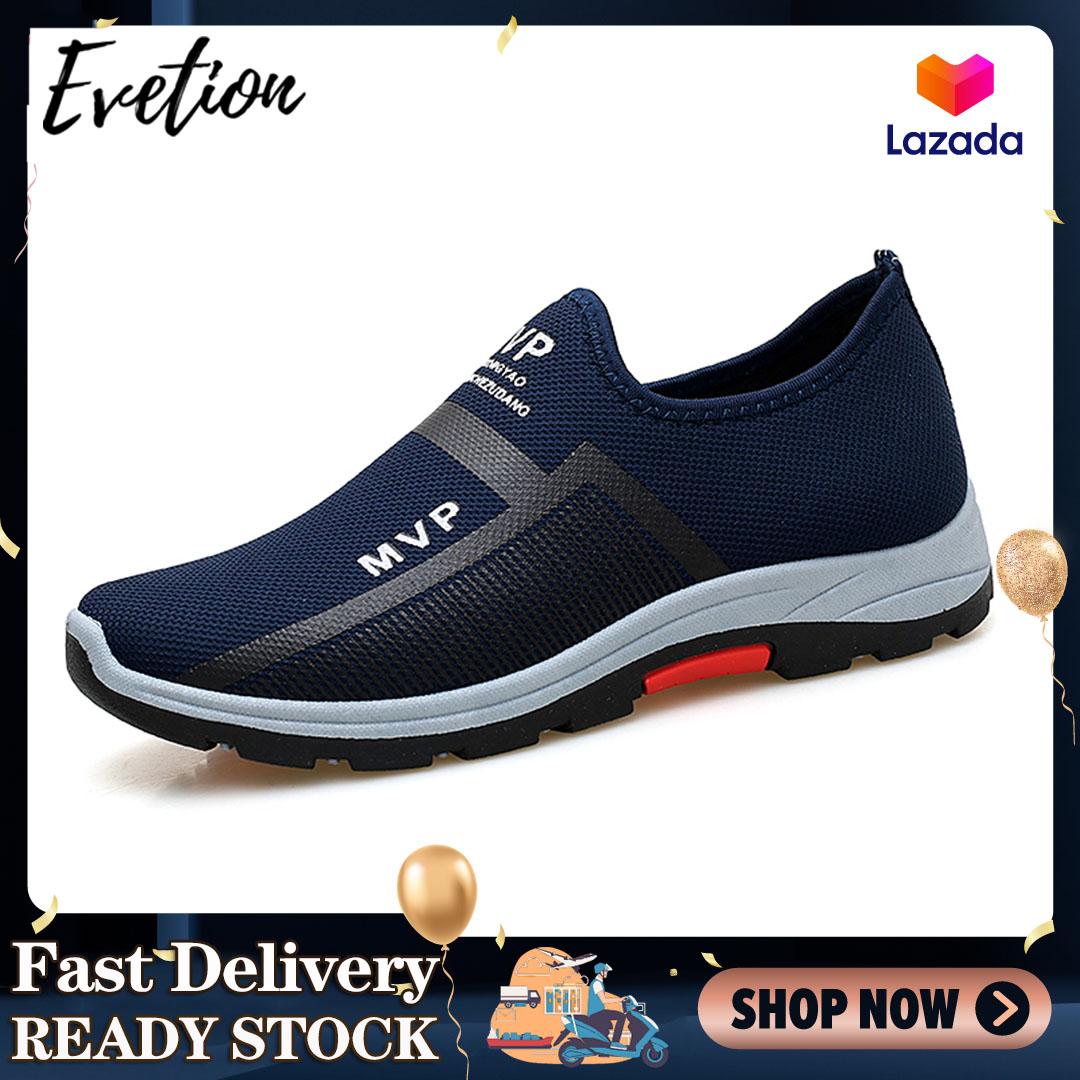 Evetion Giày thể thao mềm mại thiết kế thoáng khí và thoải mái dành cho nam giới có thể mang thường ngày phù hợp cho việc chạy bộ - INTL
