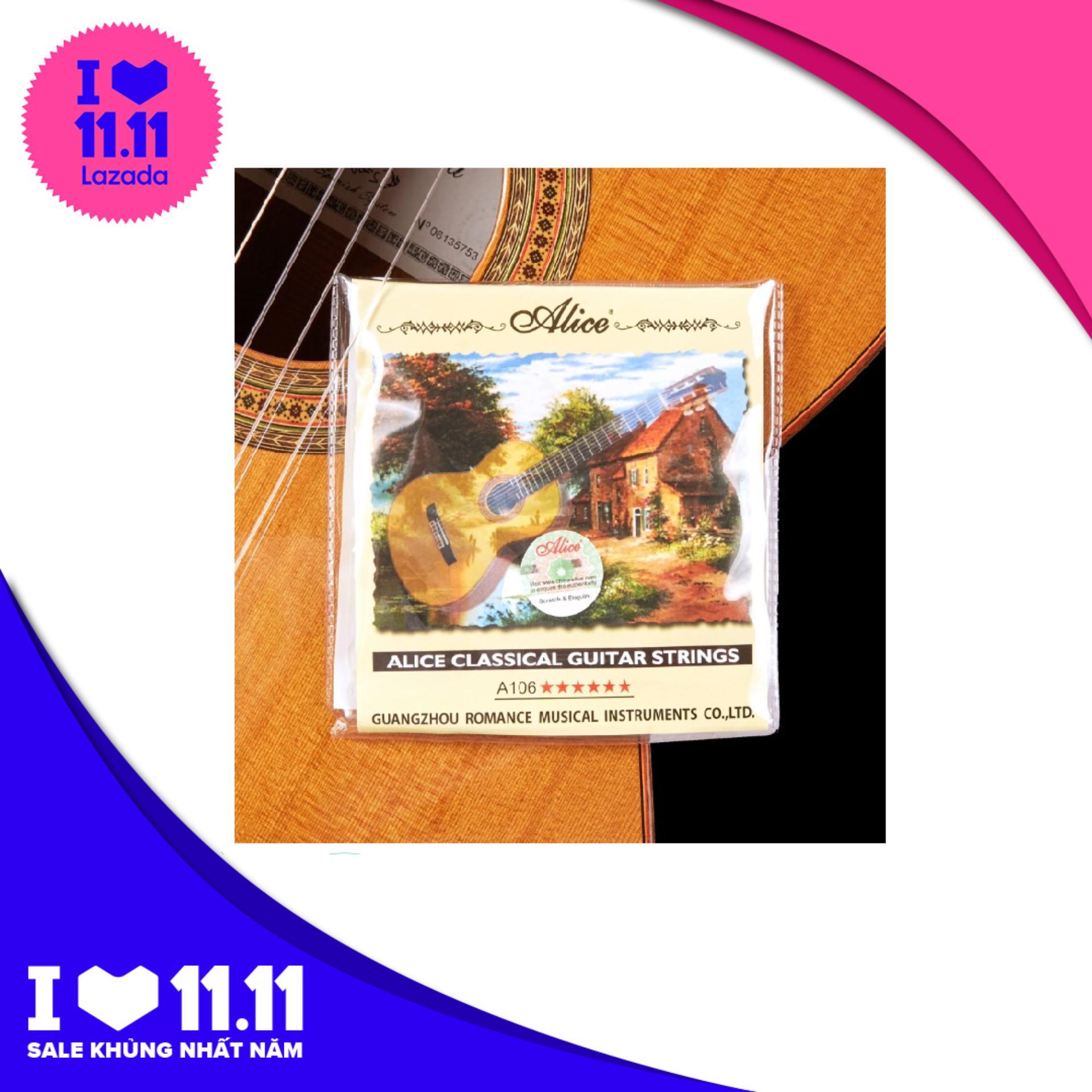 Dây đàn Guitar Classic Alice 106 (bộ 6 Dây + Phím) Giá Cực Cool