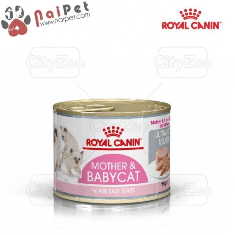 Thức Ăn Dinh Dưỡng Pate Cho Mèo Mẹ Mang Thai Và Mèo Con Mother & Baby Cat Royal Canin Lon 195g