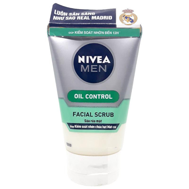 Sữa Rửa Mặt N.i.v.e.a Men Kiểm Soát Nhờn Và Chứa Hạt Matxa(100G)