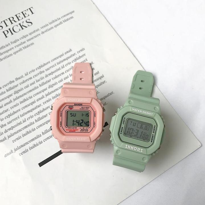 Nơi bán Đồng hồ thể thao nữ điện tử Sanosi- Thời trang Sunnee