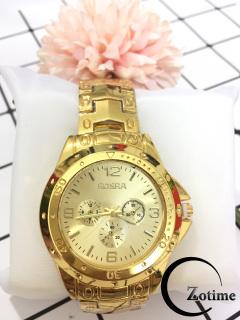 Đồng hồ nam nữ thời trang thông minh Rosra mặt vàng cực đẹp ZO56 thumbnail