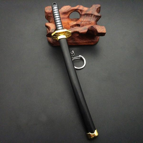 Móc khóa hình kiếm katana kim loại không gỉ Roronoa Zoro anime One Piece 16cm Phặn Phặn