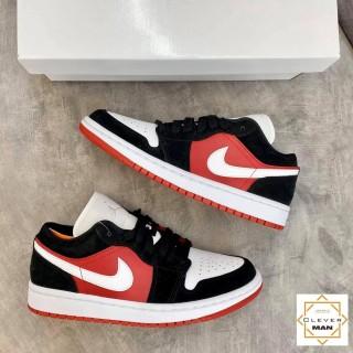 Giày Thể Thao Air Jordan 1 Low Black White Gym Red Đen đỏn Mũi Trắng Cổ Thấp Cho Cả Nam Và Nữ Clever Man Store thumbnail
