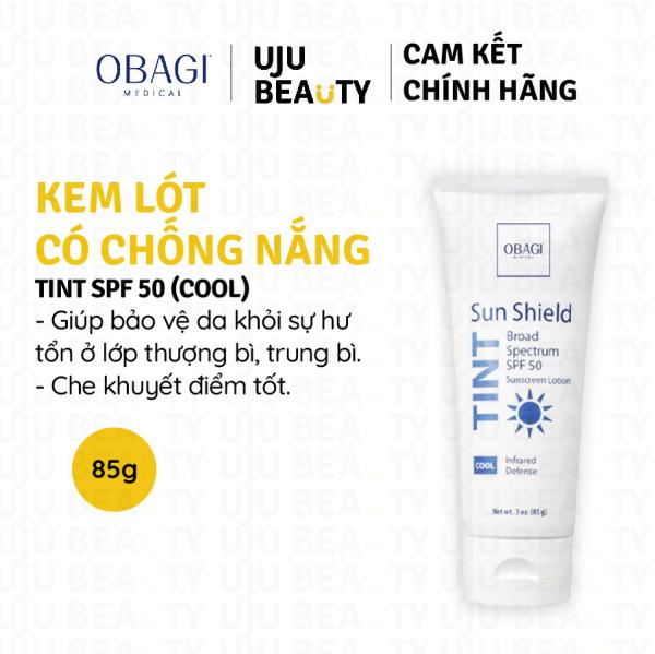 Kem chống nắng Obagi Sun Shield Tint SPF50 Cool – Kem lót chống nắng che khuyết điểm – 85g