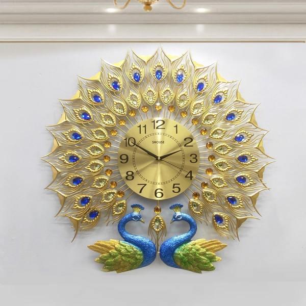Đồng hồ treo tường con chim công DTN009 thương hiệu Việt Nam chính hãng kim trôi hiện đại cao cấp nghệ thuật không gây tiếng động SEENSI bán chạy