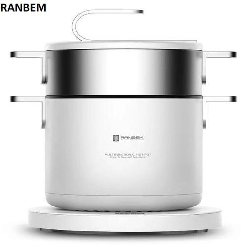Nồi lẩu hấp đa năng Ranbem 1036E - BH 1 NĂM, Model mới 2019