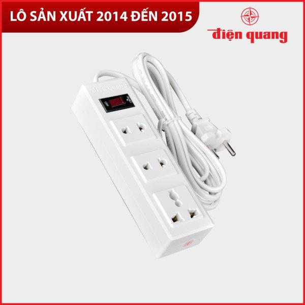 Bảng giá Ổ Cắm Điện Quang ĐQ 002A-02 (3 lỗ) - Năm SX 2014, 2015 - Bảo hành 12 tháng