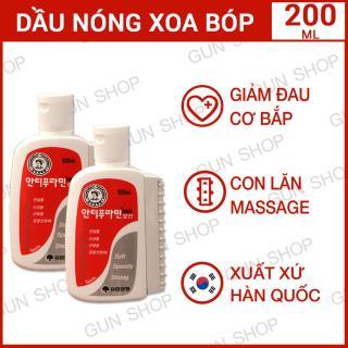 Bộ 2 Chai Dầu nóng Hàn Quốc Antiphlamine - Xoa bóp nhức mỏi - Tổng 2 chai 200ML - [GUNSHOP] thumbnail