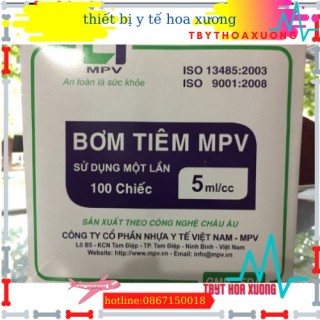 [GIÁ RẺ]Bơm tiêm MPV 5ml hộp100 chiếc[thietbiytehoaxuong] thumbnail