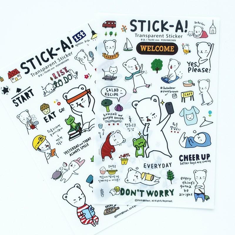 Mua Sticker A! so cute - Miếng dán xinh xinh - xoăn shop