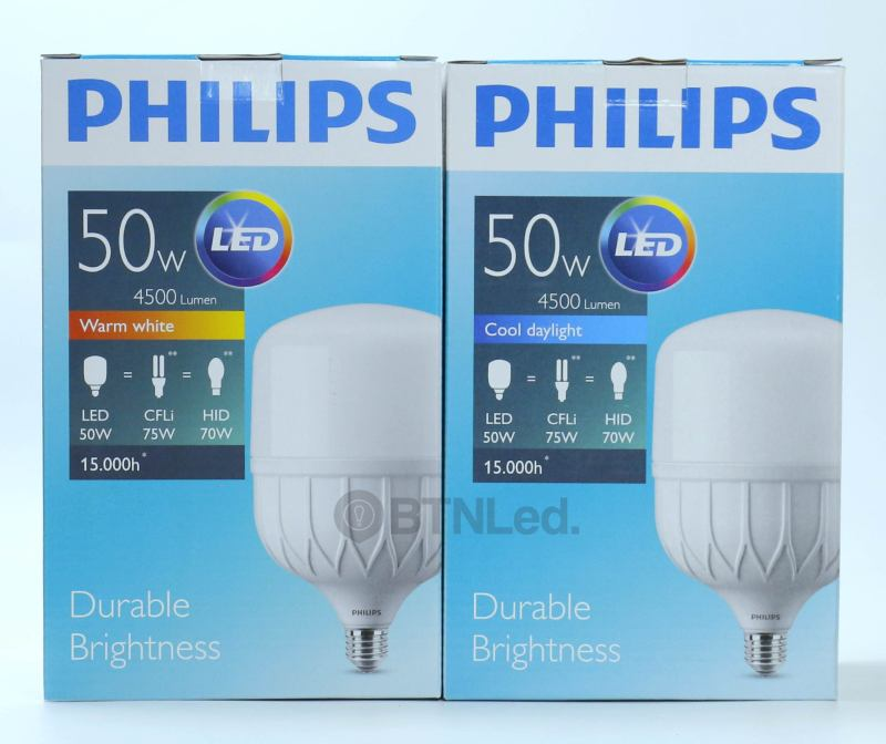 Bóng PHILIPS LED Bulb trụ 50W E27 - [HÀNG CHÍNH HÃNG] - Tiết kiệm điện, chất lượng ánh sáng cao