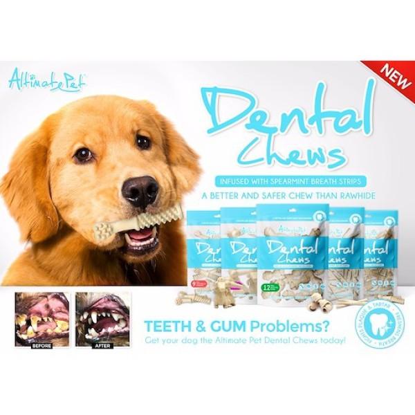 xương gặm sạch răng Altimate Pet Dental Chews 150gr (sữa, bạc hà, việt quất)