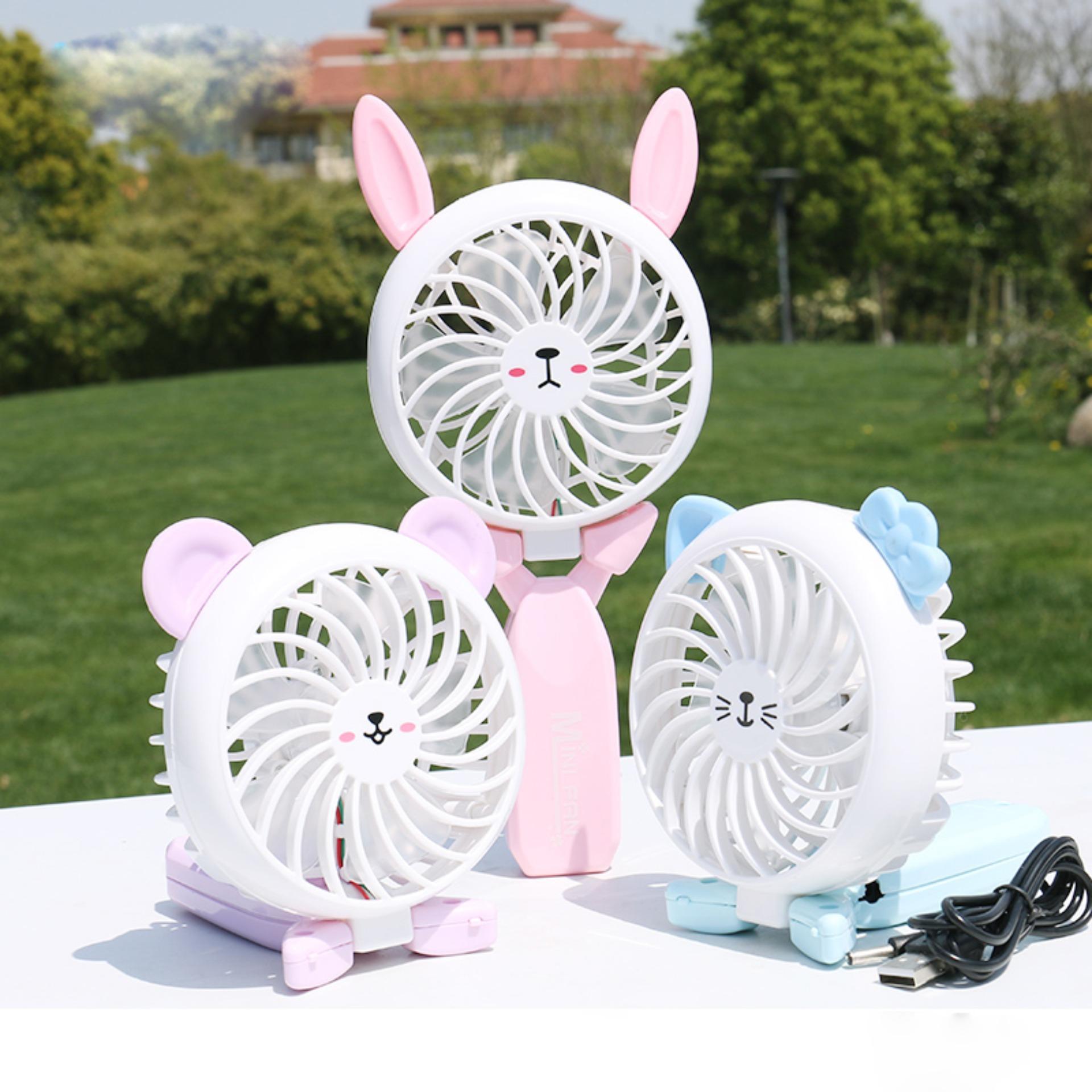 Quạt sạc mini Fan cầm tay siêu mát gấp gọn KH003- Quạt Cầm Tay Mini Cực Mát - Kèm Pin và Cáp Sạc-Màu Ngẫu Nhiên-Phụ Kiện Giá Tốt