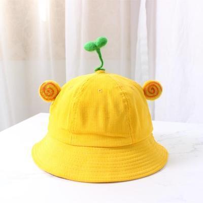 Nón Bucket Vàng gắn Cây Mầm (Size người lớn) Nhật Bản