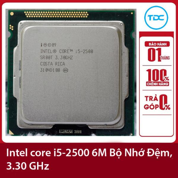Bảng giá Bộ vi xử lý Intel CPU Core i5 2500 3.70GHz ,95w 4 lõi 4 luồng, 6MB Cache Socket Intel LGA 1155 Phong Vũ