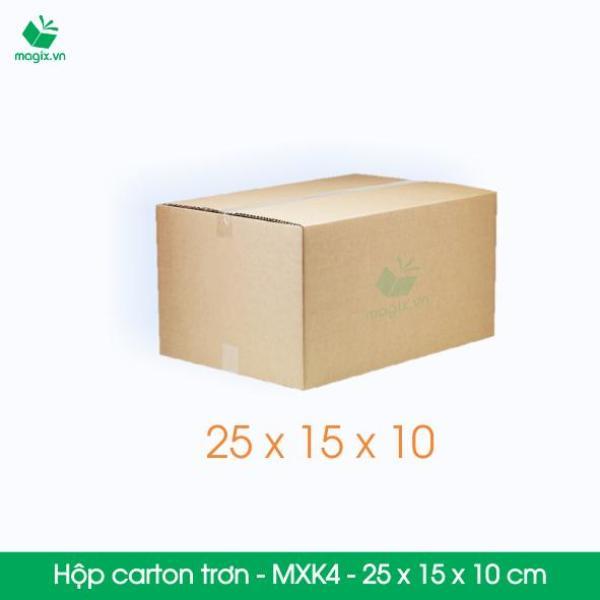 MXK4 - 25x15x10 cm - 60 Thùng hộp carton trơn đóng hàng
