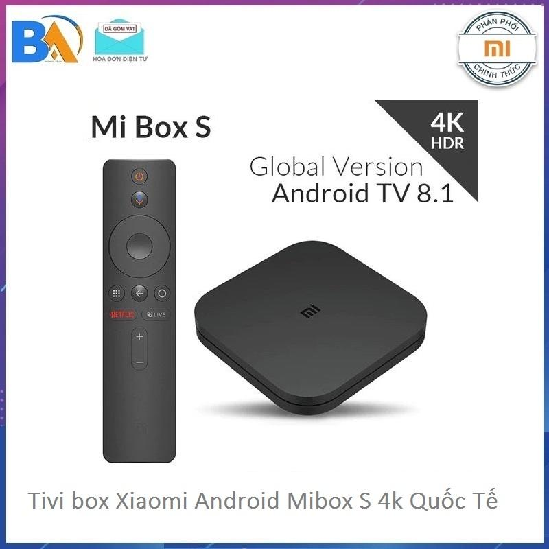 Bảng giá Tivi box Xiaomi - Android Tivi Box Xiaomi Mibox S 4K Ultra HD Quốc Tế Tiếng Việt - DGW phân phối