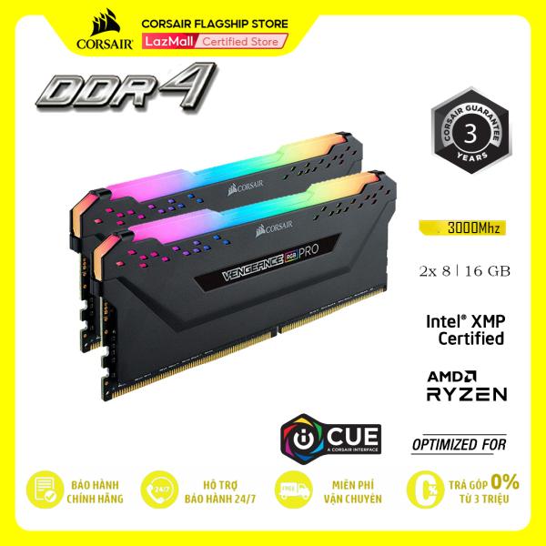 Bảng giá RAM PC CORSAIR VENGEANCE PRO RGB 16GB DDR4 2x8GB 3000MHz CMW16GX4M2D3000C16 Phong Vũ