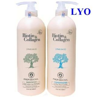 Bộ dầu Gội Xả Biotin Collagen Trắng Giúp Phục Hồi Chống Rụng tóc thumbnail